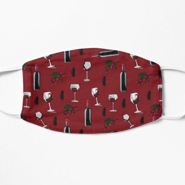 Wine Pattern Red Flat Mask