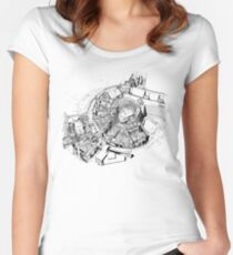 BBC Television Centre floorplan Women's Fitted Scoop T-Shirt