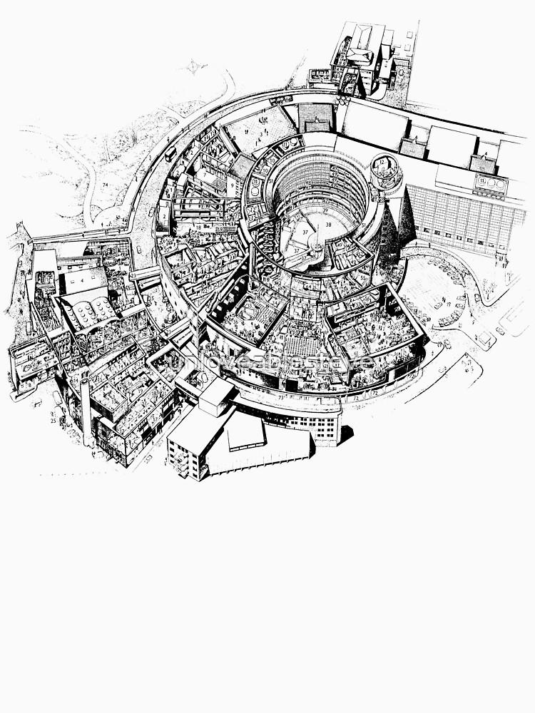 BBC Television Centre floorplan | Unisex T-Shirt