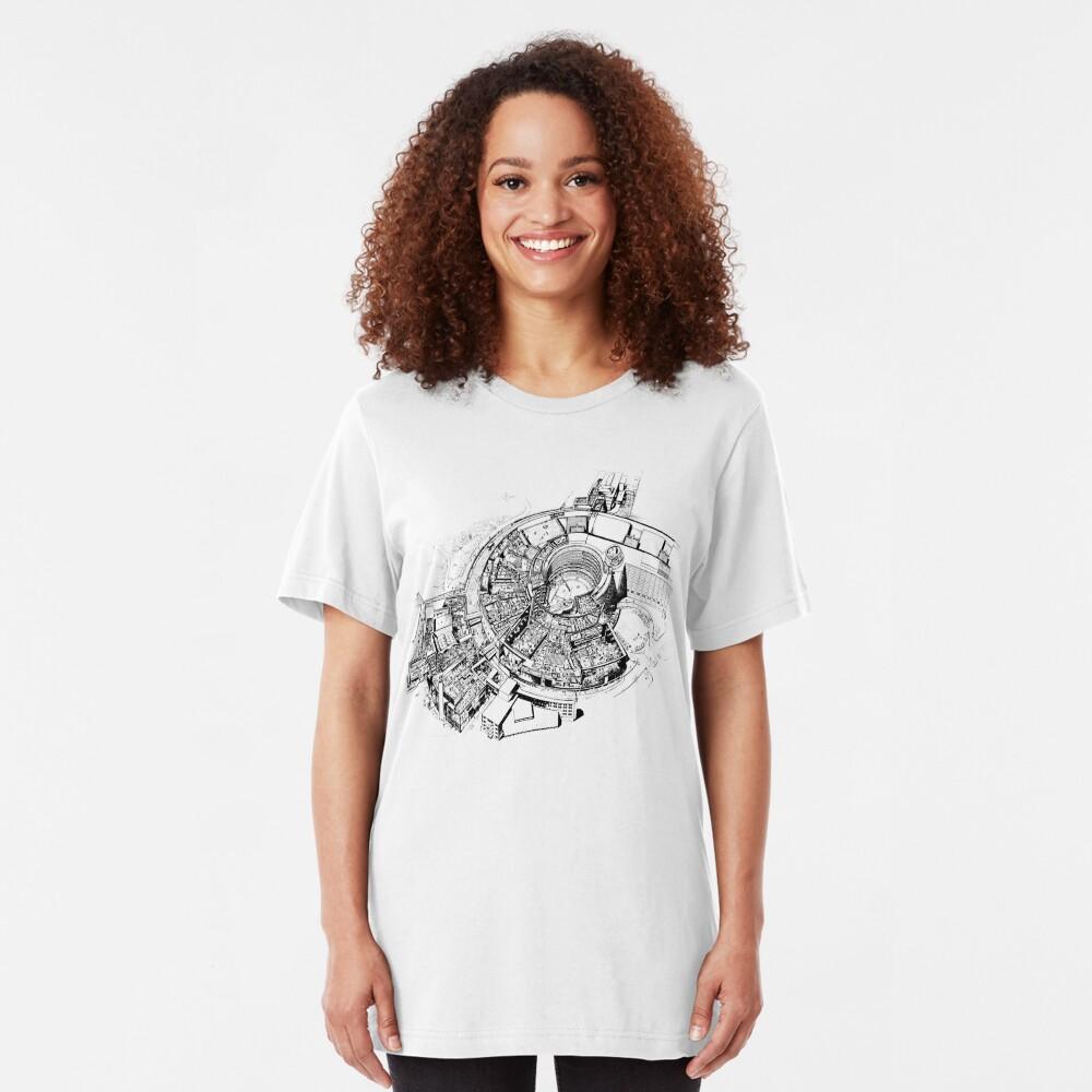 BBC Television Centre floorplan Slim Fit T-Shirt