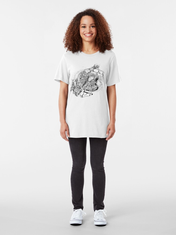 Alternate view of BBC Television Centre floorplan Slim Fit T-Shirt
