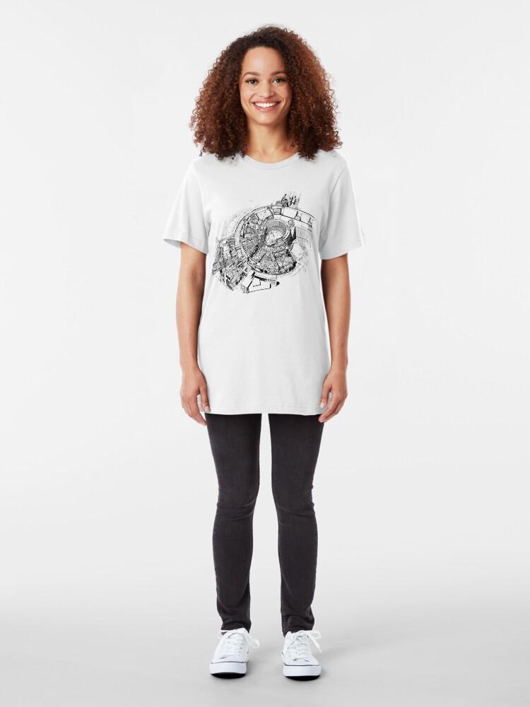 Alternate view of BBC Television Centre floorplan Slim Fit T-Shirt