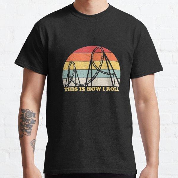 Vintage Retro Roller Coaster Amusement Park Lover   Classic T-Shirt