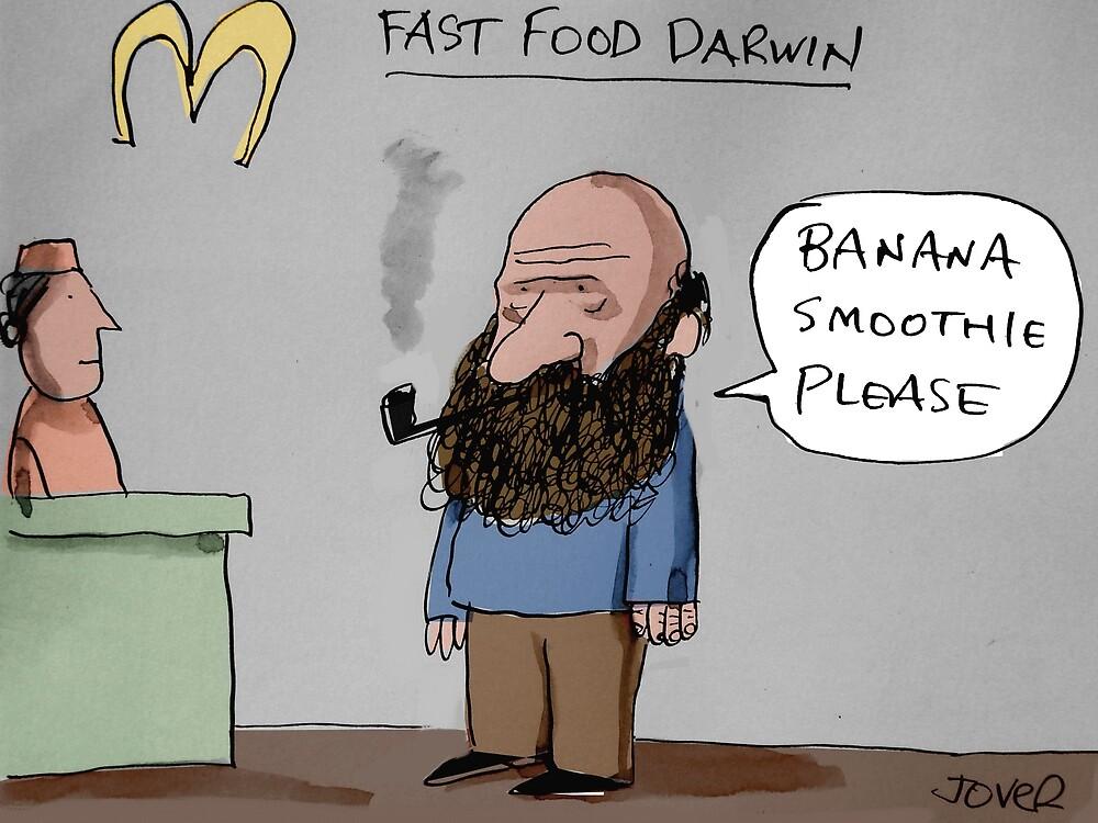 fast food Darwin by Loui  Jover
