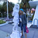 the statue and my friend Nel by Lazarita Betancourt