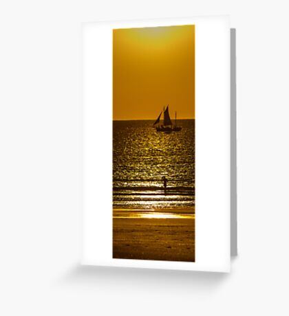 Sunset Sail - Pearl Lugger - Broome - WA  Greeting Card