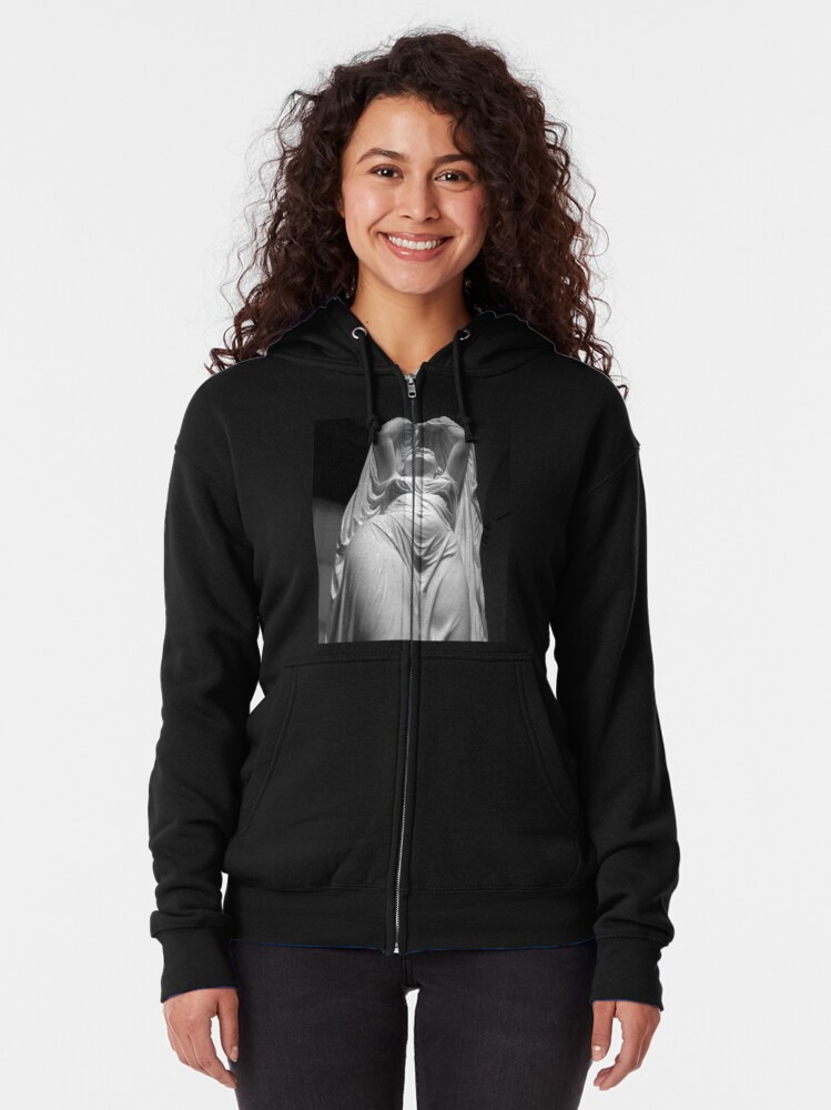 Alternate view of Undine Rising from the Waters. Chauncey Bradley Ives Zipped Hoodie