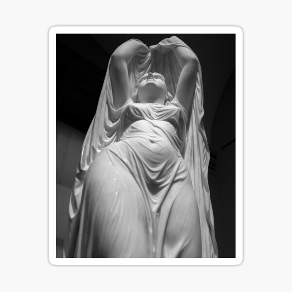 Undine Rising from the Waters. Chauncey Bradley Ives Sticker