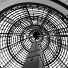 Enclosed heritage - shot tower, Melbourne by Norman Repacholi