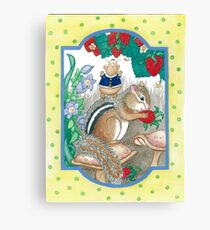 CHIPMUNK AND HAMSTER Canvas Print