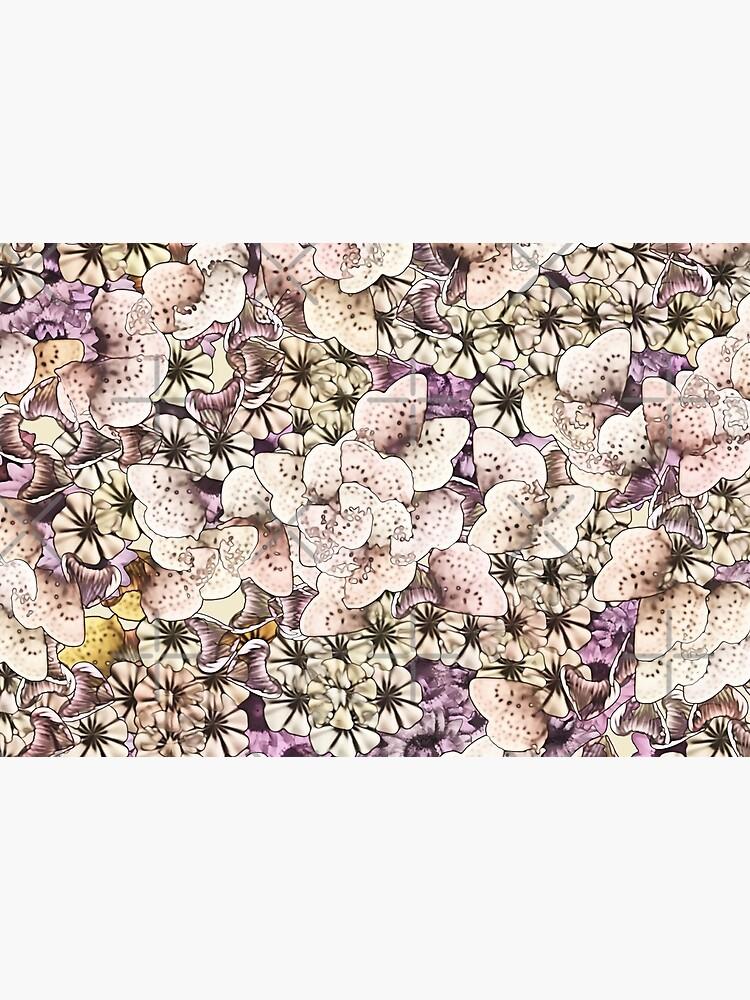 Flowers of Cream and Plum by SherDigiScraps