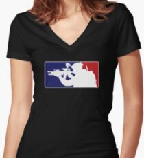 Major League fill in the blank... Women's Fitted V-Neck T-Shirt