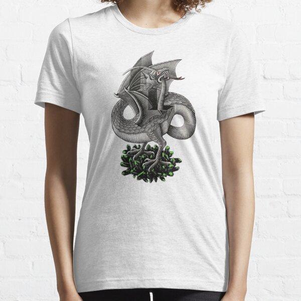MC Escher Dragon and Gems Artwork T-Shirt M.C. Escher McEscher Vintage Optical Illusion Essential T-Shirt