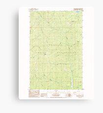 USGS Topo Map Washington State WA Gold Mountain 241343 1985 24000 Canvas Print