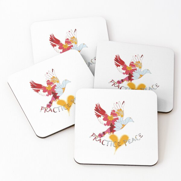 Practice Peace - Peace Wear by MiM Coasters (Set of 4)