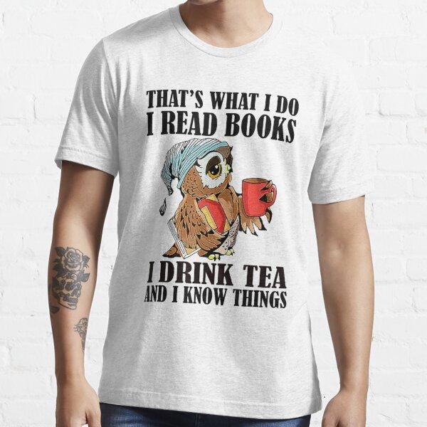 Cats Books /& Tea Bibliophile Bookworms Funny Avid Reader Gift Ideas Vneck TShirt