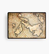 Fantasy Map Metal Print