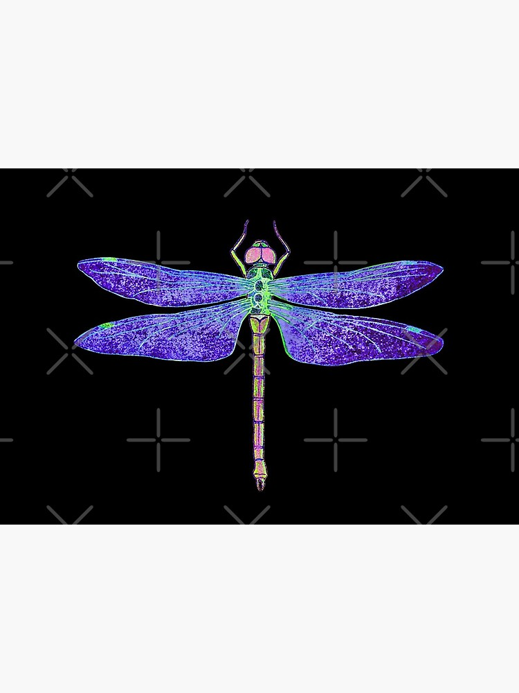 Purple and Green Dragonfly by SherDigiScraps
