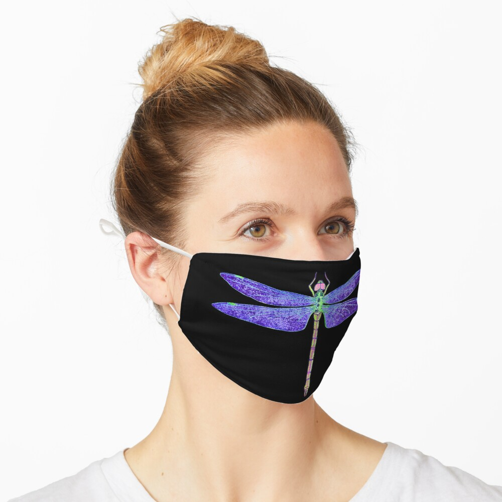 Purple and Green Dragonfly Mask