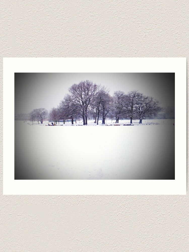 Brockwell Park Tree Circle In Winter Art Print By Andybroomfield Redbubble