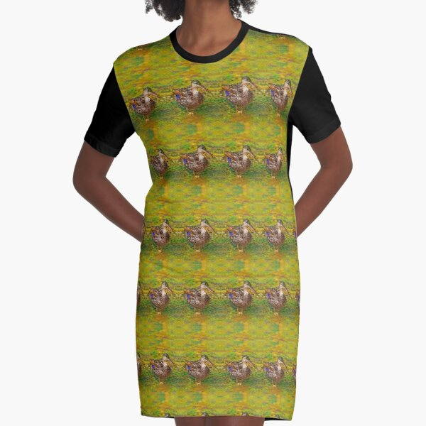 Ducks In A Row Graphic T-Shirt Dress