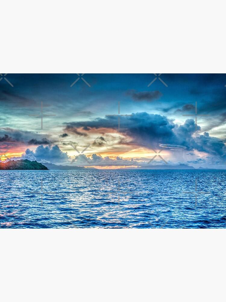 Dawn Breaking over the Sea  by SherDigiScraps