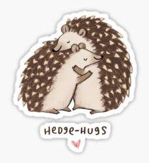 Hedge-hugs Sticker