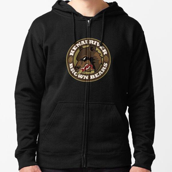 Kenai River Brown Bears Zipped Hoodie