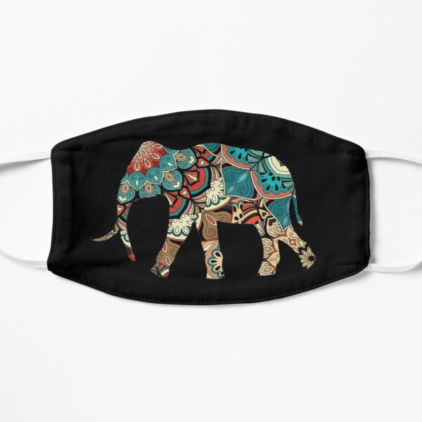 Elephant Tribal Aztec Native American Spiritual Earth Day Gift Design Flat Mask