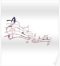 Floral Music Note Poster