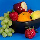 Couple Bites of Fruit by Oil Water Artt