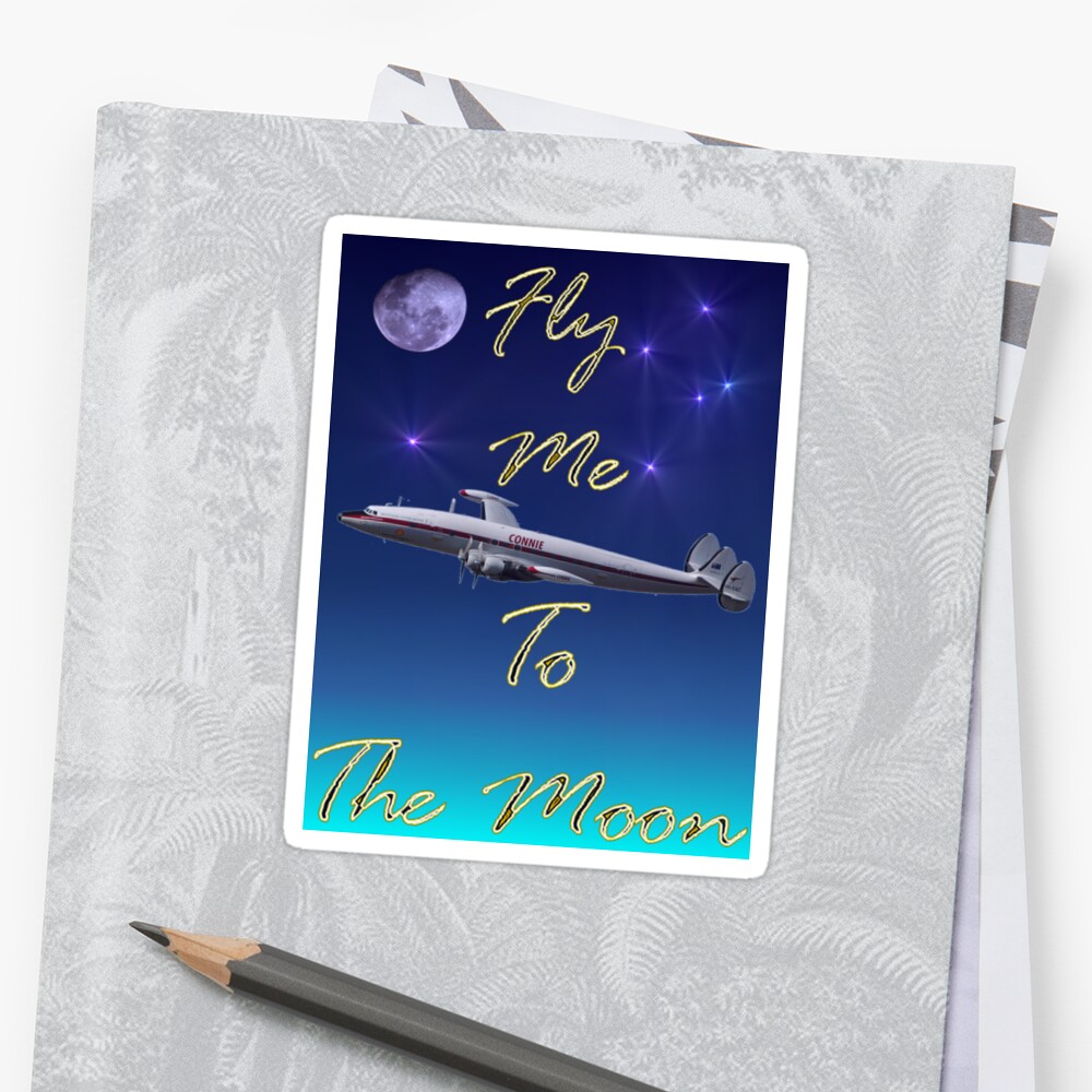 Fly Me To The Moon T-shirt Design by muz2142