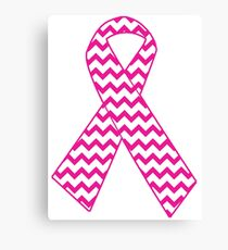 Breast Cancer Ribbon Canvas Print