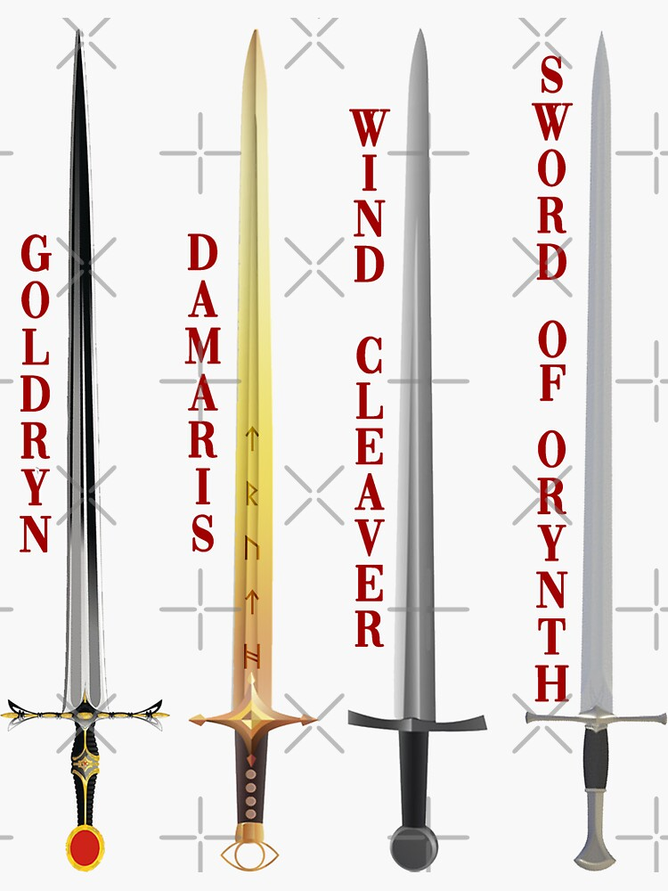 Swords of Throne of Glass by juliarosenbe