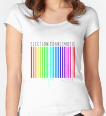 ElectronicDanceMusic Women's Fitted Scoop T-Shirt