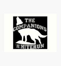 The companions of Whiterun - White Art Print