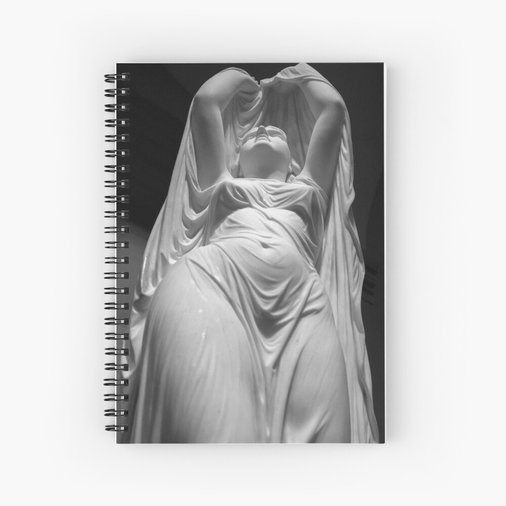 Undine Rising from the Waters. Chauncey Bradley Ives Spiral Notebook