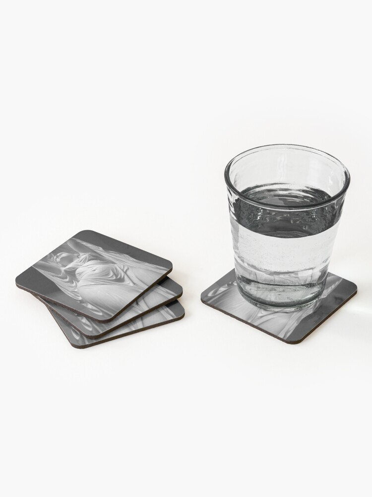 Alternate view of Undine Rising from the Waters. Chauncey Bradley Ives Coasters (Set of 4)
