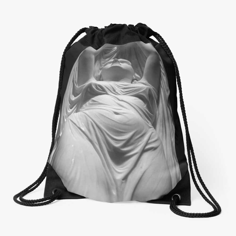 Undine Rising from the Waters. Chauncey Bradley Ives Drawstring Bag