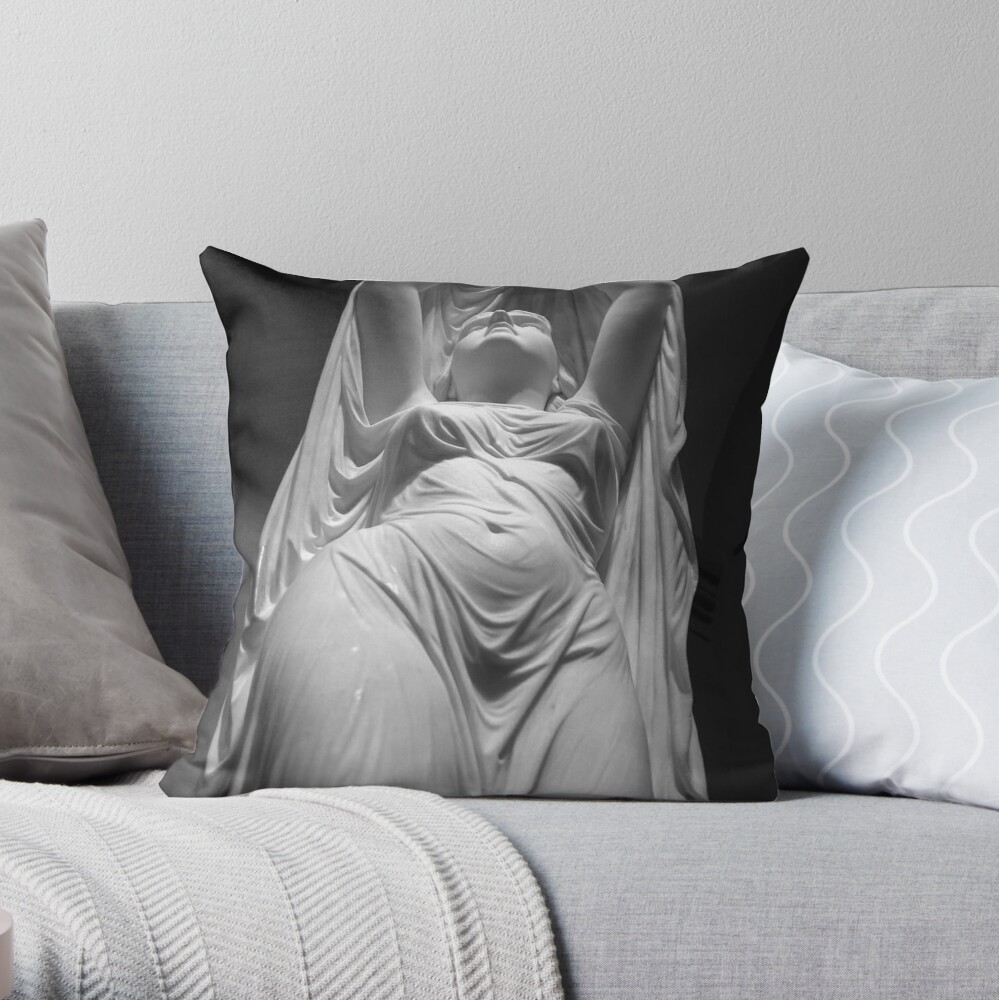 Undine Rising from the Waters. Chauncey Bradley Ives Throw Pillow