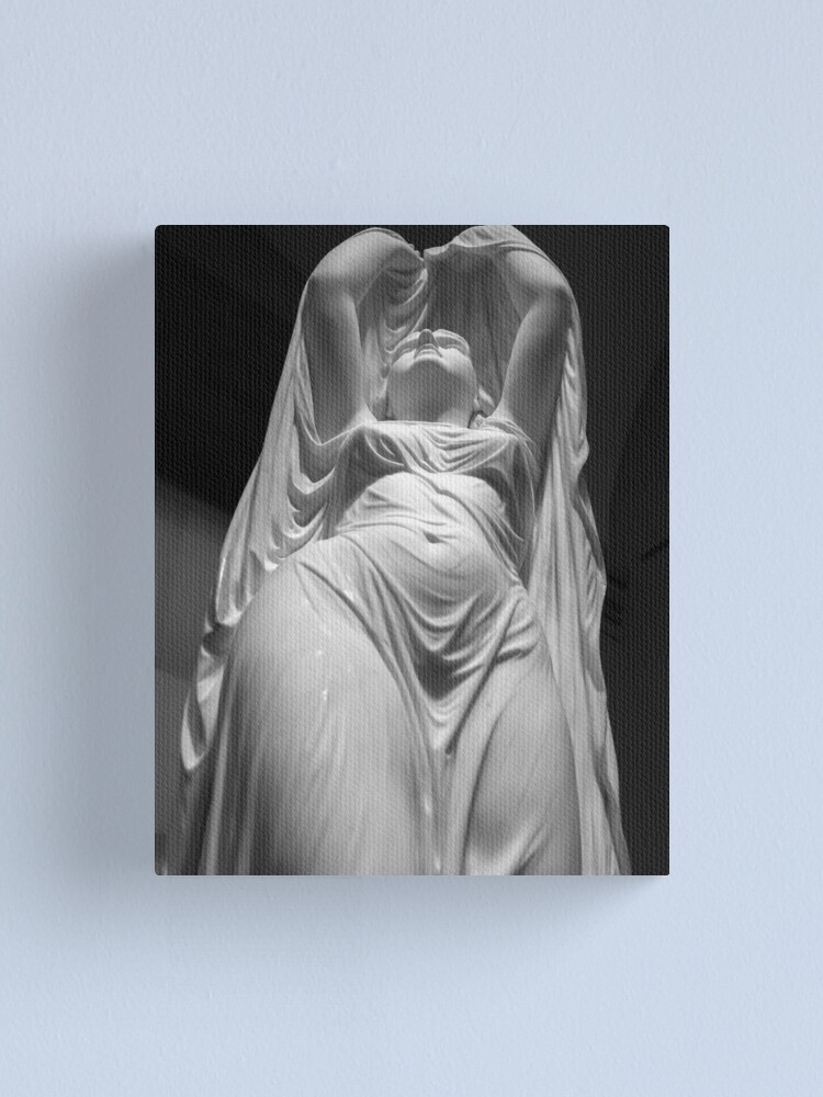 Alternate view of Undine Rising from the Waters. Chauncey Bradley Ives Canvas Print