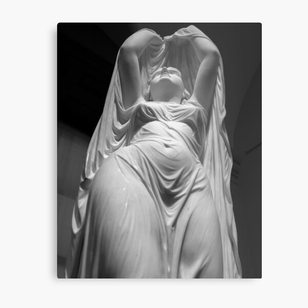 Undine Rising from the Waters. Chauncey Bradley Ives Metal Print