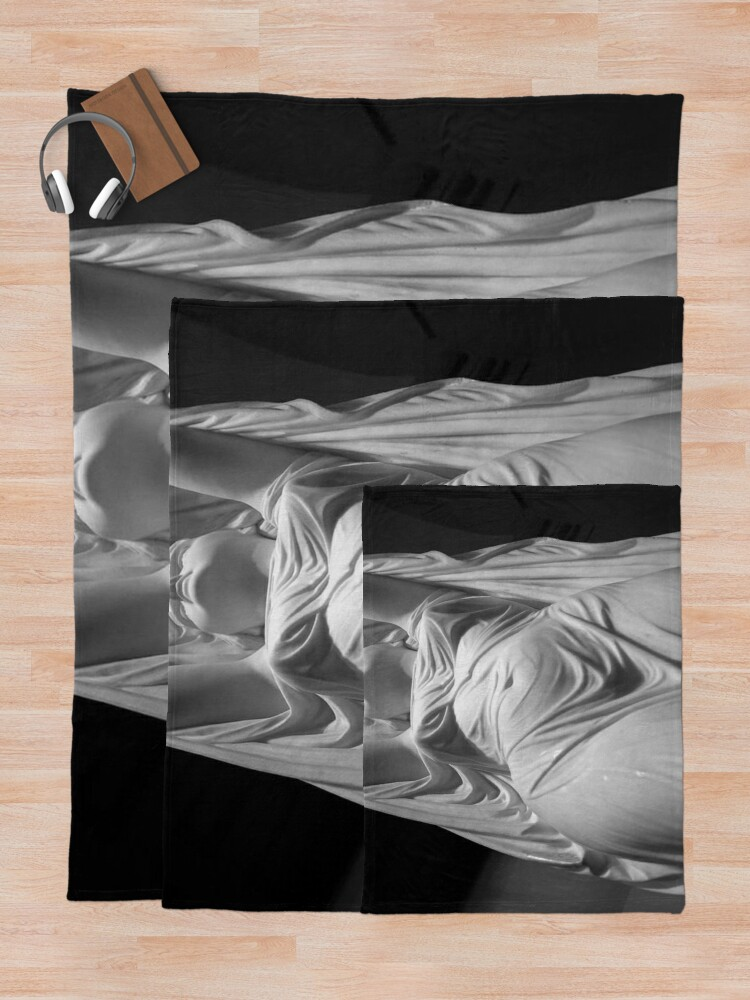 Alternate view of Undine Rising from the Waters. Chauncey Bradley Ives Throw Blanket