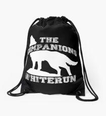 The companions of Whiterun - White Drawstring Bag