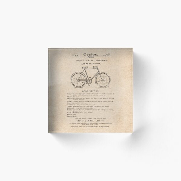 VINTAGE GOODS / Bicycles - Roadster Acrylic Block