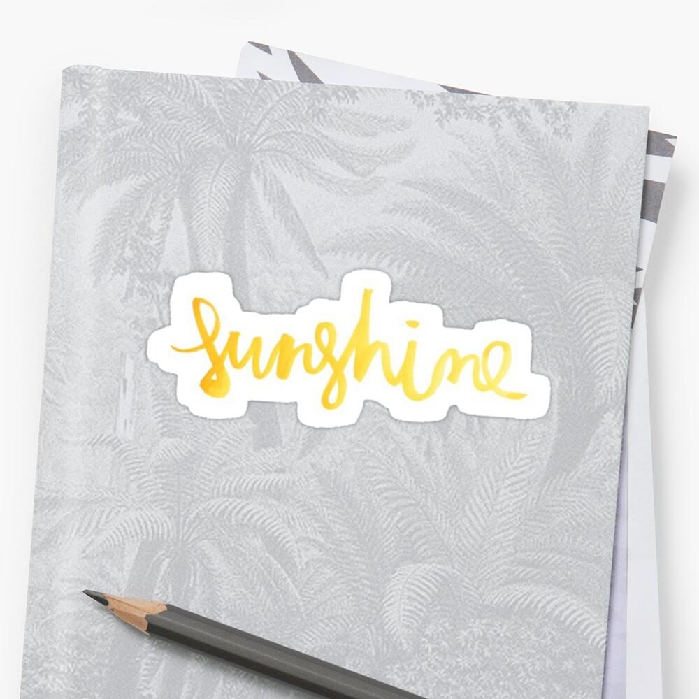 Gold Sonnenschein Sticker