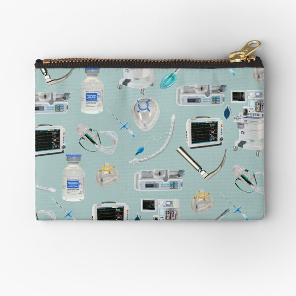 Tools of the Trade LIGHT BLUE Anesthesia / Anaesthesia Zipper Pouch