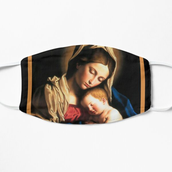 virgin mary holy art Mask