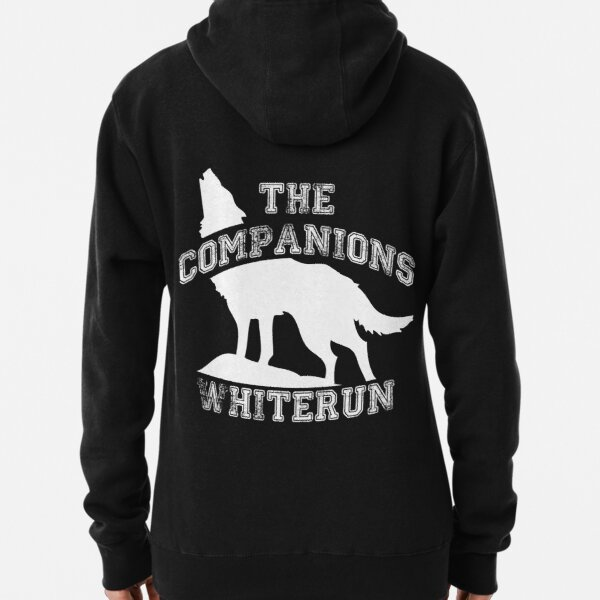 The companions of Whiterun - White Pullover Hoodie