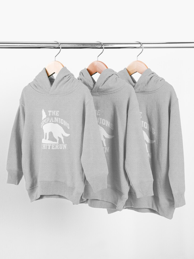 Alternate view of The companions of Whiterun - White Toddler Pullover Hoodie